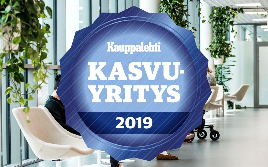 Pirtelle on myönnetty Kauppalehden Kasvaja -sertifikaatti 2019